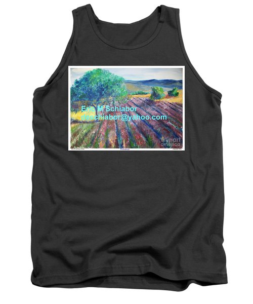 Provence Lavender Field Tank Top by Eric  Schiabor