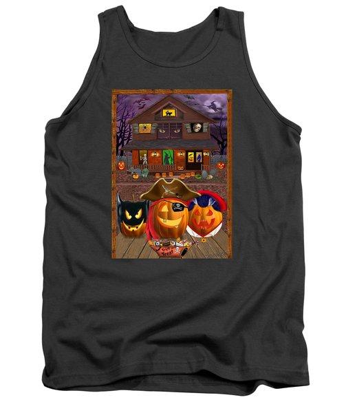Pumpkin Masquerade Tank Top by Glenn Holbrook