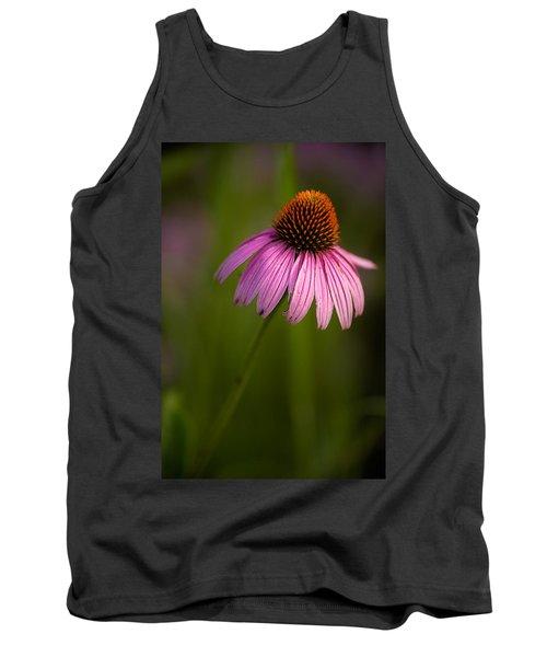 Purple Cone Flower Portrait Tank Top