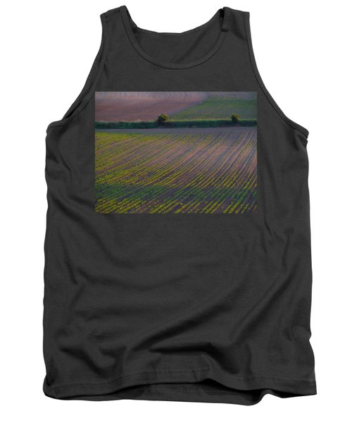 Tank Top featuring the photograph Purple Fields by Evelyn Tambour