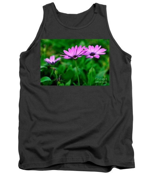 Tank Top featuring the photograph Purple Flowers by Joe  Ng