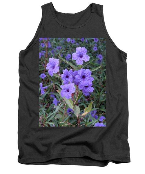 Tank Top featuring the photograph Purple Flowers by Laurel Powell