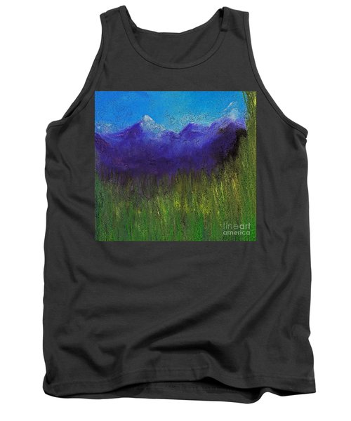 Purple Mountains By Jrr Tank Top by First Star Art
