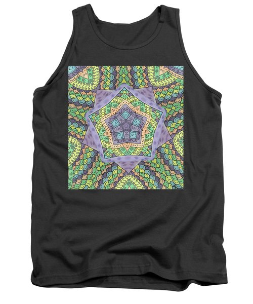 Tank Top featuring the painting Purple Passion by Susie WEBER
