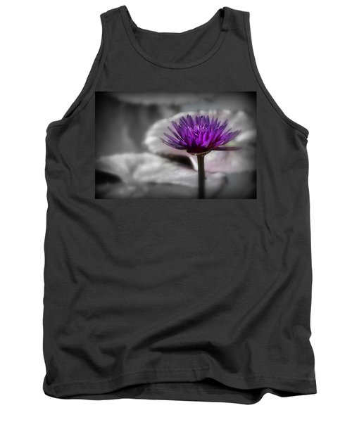 Purple Pond Lily Tank Top