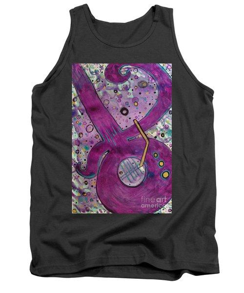 Purple Strings Tank Top