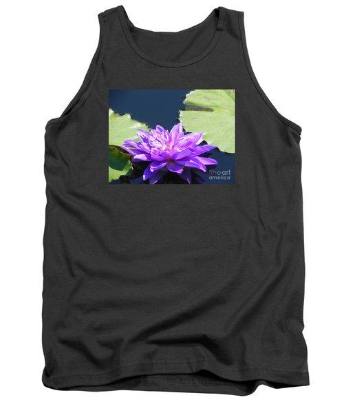 Tank Top featuring the photograph Purple Waterlilie Flower by Chrisann Ellis