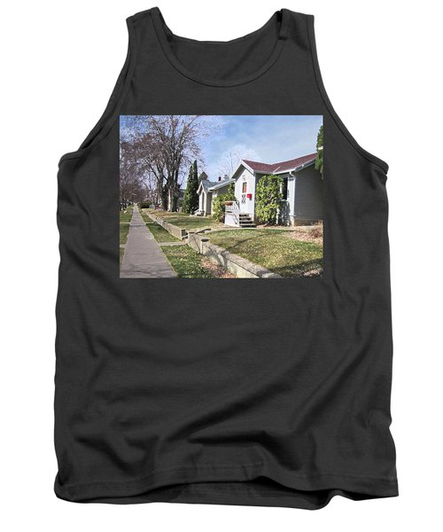 Tank Top featuring the digital art Quiet Street Waiting For Spring by Donald S Hall