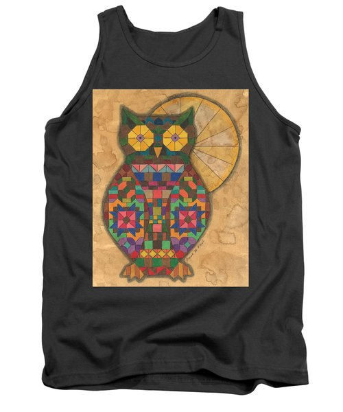 Quilted Owl Tank Top