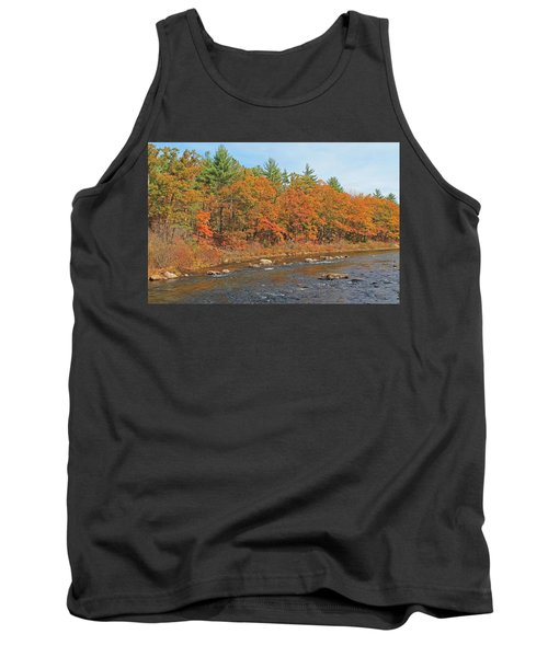 Quinapoxet River In Autumn Tank Top