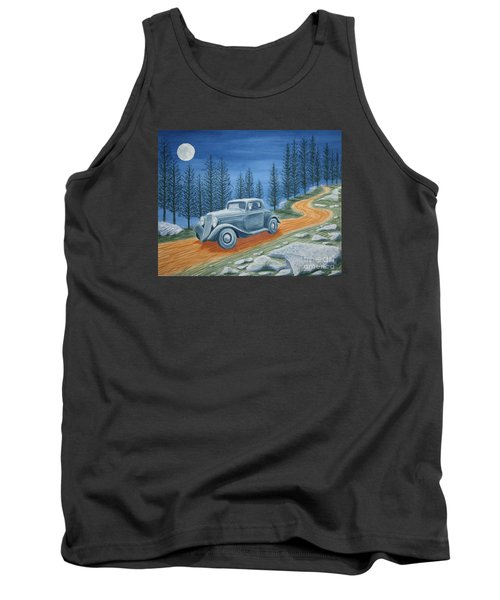 Tank Top featuring the painting Racing Was Born In North Carolina by Stacy C Bottoms