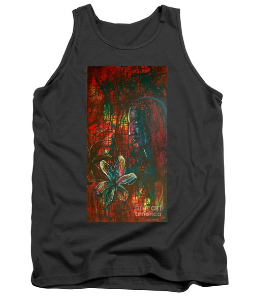 Tank Top featuring the painting Radiating Light by Mini Arora