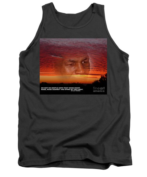 Rage Rage Against The Dying Of The Light Tank Top by Jim Fitzpatrick