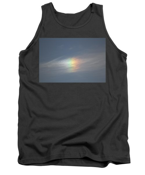 Tank Top featuring the photograph Rainbow In The Clouds by Eti Reid