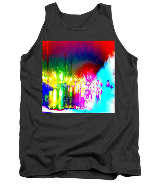 Tank Top featuring the photograph Rainbow Splash Abstract by Marianne Dow