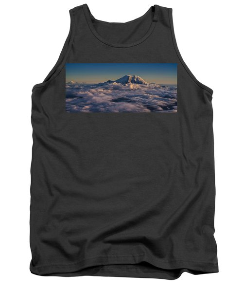Rainier Hood Adams And St Helens From The Air Tank Top