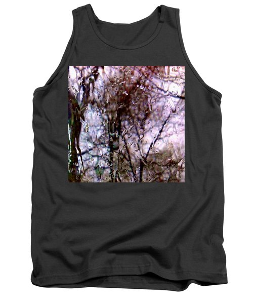 Tank Top featuring the photograph Rainscape - Rain On The Window Series 1 Abstract Photo by Marianne Dow