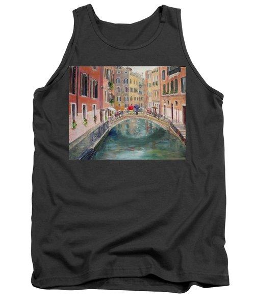 Rainy Day In Venice Tank Top by Harriett Masterson