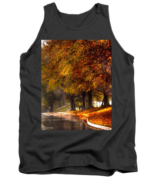Tank Top featuring the photograph Rainy Day Path by Lesa Fine