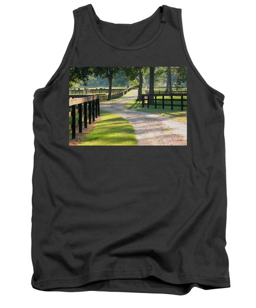 Ranch Road In Texas Tank Top by Connie Fox