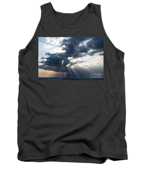 Tank Top featuring the photograph Rays And Clouds by Antonio Scarpi