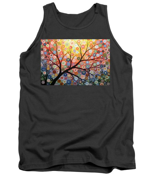 Reaching For The Light Tank Top by Amy Giacomelli