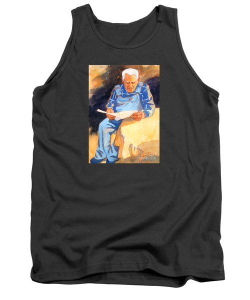Reading Time Tank Top by Kathy Braud
