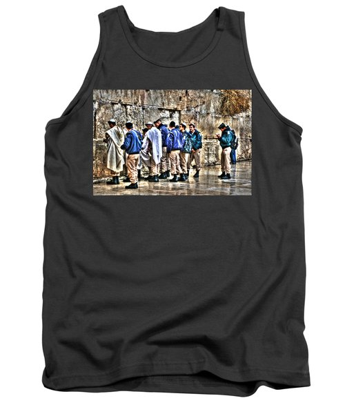 Tank Top featuring the photograph Real Homeland Security In Israel by Doc Braham
