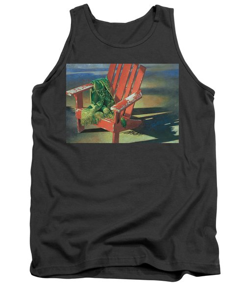 Red Adirondack Chair Tank Top