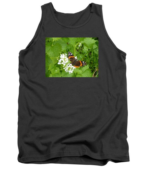 Tank Top featuring the photograph Red Admiral Butterfly by Lingfai Leung