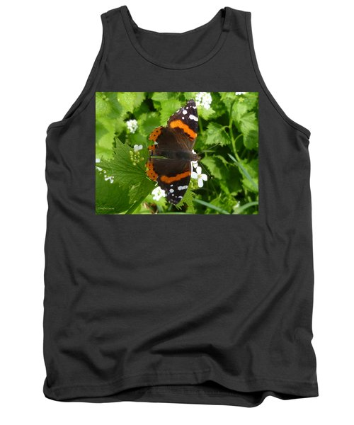 Tank Top featuring the photograph Red Admiral In Toronto by Lingfai Leung