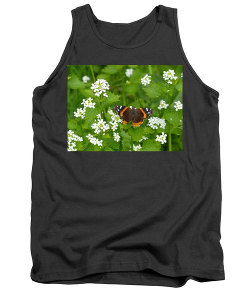 Tank Top featuring the photograph Red Admirals by Lingfai Leung