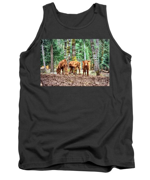 Red Angus Calves Tank Top