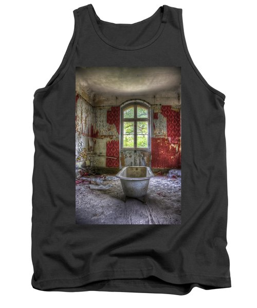 Red Bathroom Tank Top by Nathan Wright