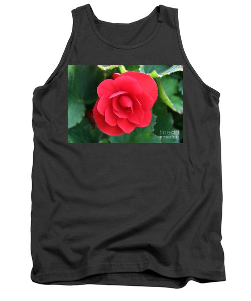 Red Begonia Tank Top by Sergey Lukashin