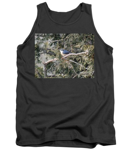 Tank Top featuring the photograph Red Breasted Nuthatch by Brenda Brown