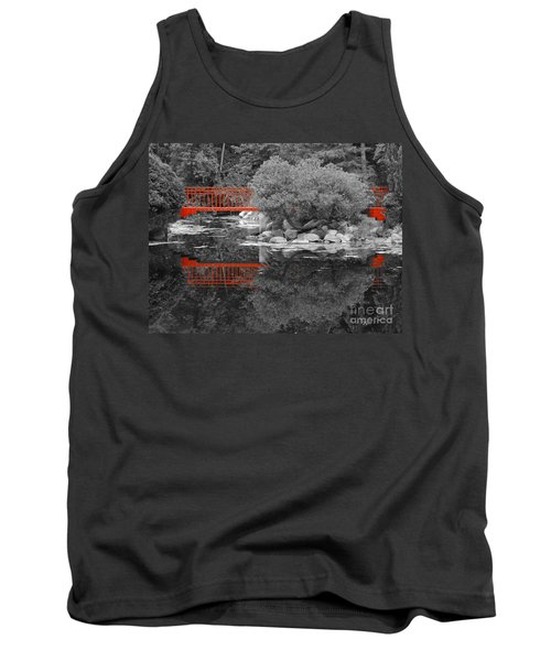 Red Bridge Black And White Tank Top