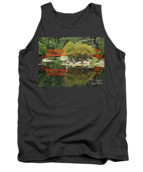 Red Bridge Close Reflection Tank Top