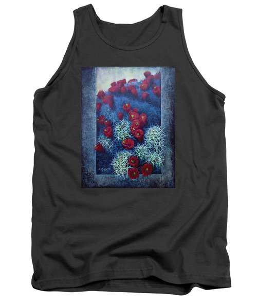 Tank Top featuring the painting Red Cactus by Rob Corsetti