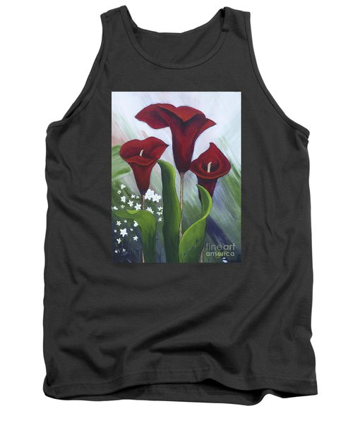 Red Calla Lilies Tank Top