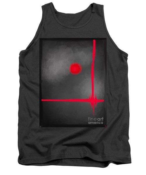 Red Dot Tank Top by Anita Lewis