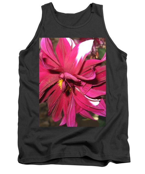 Red Flower In Bloom Tank Top