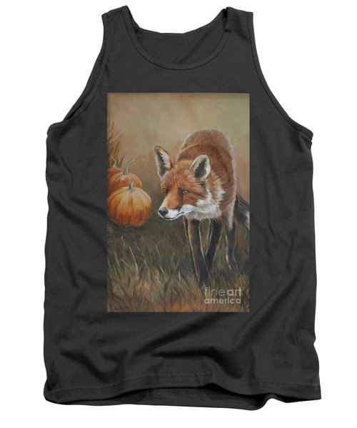 Red Fox With Pumpkins Tank Top
