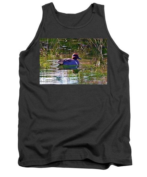Tank Top featuring the photograph Red Headed Duck by Susan Garren