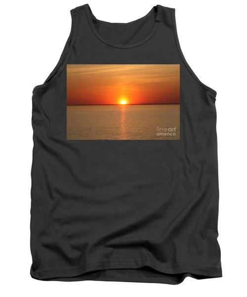 Red-hot Sunset Tank Top by John Telfer