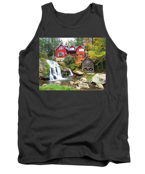 Red House By The Waterfall Tank Top