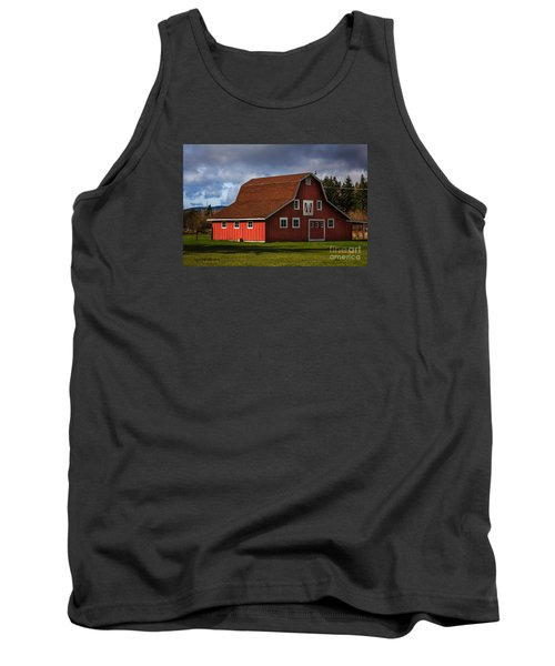 Tank Top featuring the photograph Red Kirsop Barn by Jean OKeeffe Macro Abundance Art