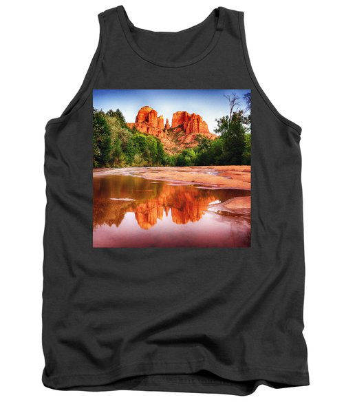 Red Rock State Park - Cathedral Rock Tank Top by Bob and Nadine Johnston