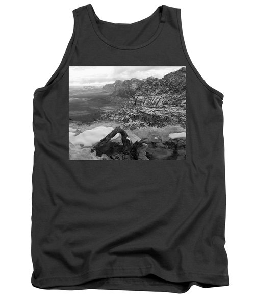 Tank Top featuring the photograph Red Rock Winter by Alan Socolik