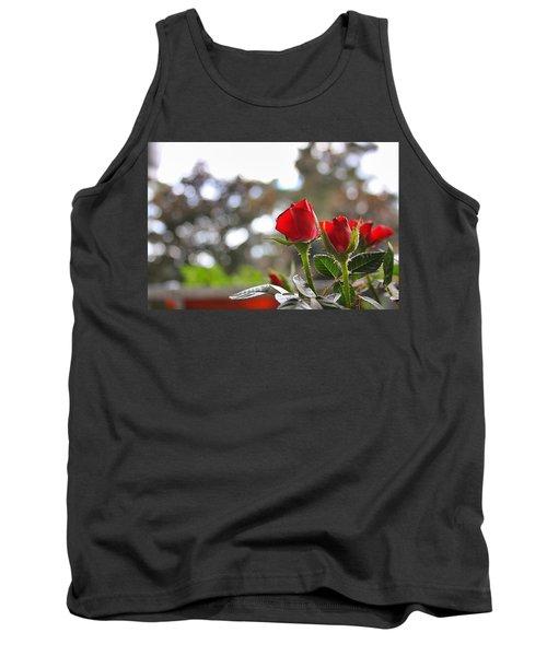 Red Roses Tank Top by Daniel Precht